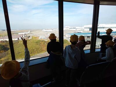 展望台から眺める成田空港です。