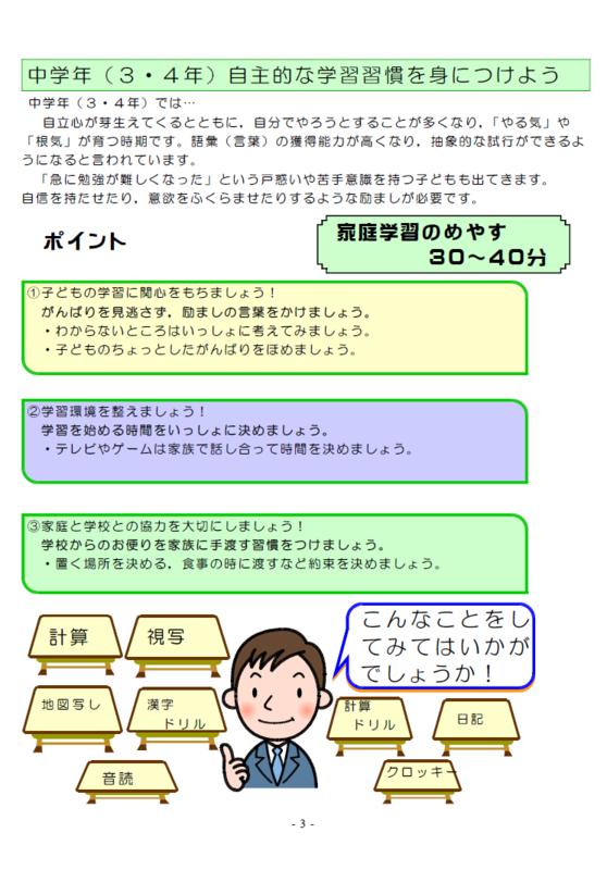 家庭学習のすすめP3