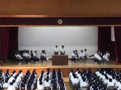 生徒会役員選挙 立会演説会