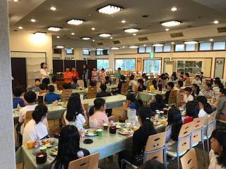 5年林間学校 朝食
